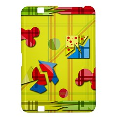 Playful Day   Yellow  Kindle Fire Hd 8 9  by Valentinaart