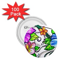 Tropical Hibiscus Flowers 1 75  Buttons (100 Pack)  by EverIris