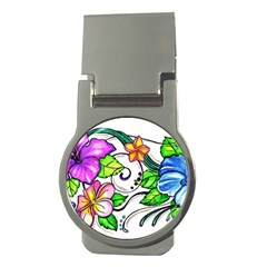 Tropical Hibiscus Flowers Money Clips (round)  by EverIris