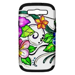 Tropical Hibiscus Flowers Samsung Galaxy S Iii Hardshell Case (pc+silicone) by EverIris