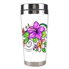 Tropical Hibiscus Flowers Stainless Steel Travel Tumblers by EverIris