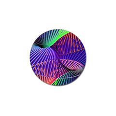 Colorful Rainbow Helix Golf Ball Marker (4 Pack) by designworld65