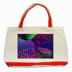 Colorful Rainbow Helix Classic Tote Bag (red) by designworld65