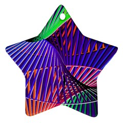 Colorful Rainbow Helix Star Ornament (two Sides)  by designworld65