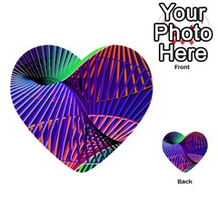 Colorful Rainbow Helix Multi Purpose Cards (heart)  by designworld65