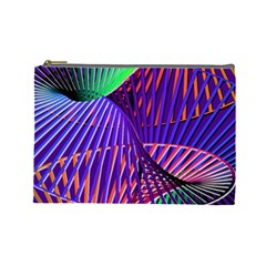 Colorful Rainbow Helix Cosmetic Bag (large)  by designworld65