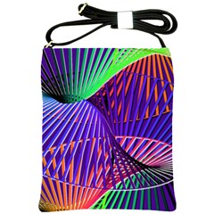 Colorful Rainbow Helix Shoulder Sling Bags by designworld65