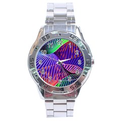 Colorful Rainbow Helix Stainless Steel Analogue Watch by designworld65