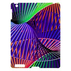Colorful Rainbow Helix Apple Ipad 3/4 Hardshell Case by designworld65