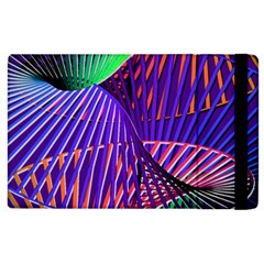 Colorful Rainbow Helix Apple Ipad 2 Flip Case by designworld65