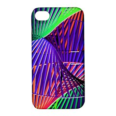 Colorful Rainbow Helix Apple Iphone 4/4s Hardshell Case With Stand by designworld65