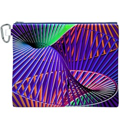 Colorful Rainbow Helix Canvas Cosmetic Bag (xxxl) by designworld65