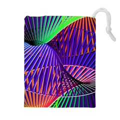 Colorful Rainbow Helix Drawstring Pouches (extra Large) by designworld65
