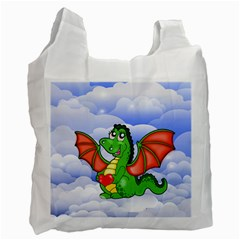 Dragon Heart Kids Love Cute Recycle Bag (One Side) by Zeze
