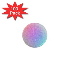 Rainbow Colorful Grid 1  Mini Magnets (100 Pack)  by designworld65
