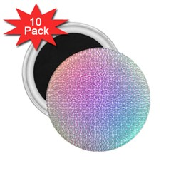 Rainbow Colorful Grid 2 25  Magnets (10 Pack)  by designworld65