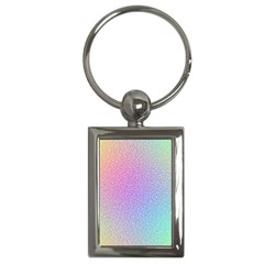 Rainbow Colorful Grid Key Chains (rectangle)  by designworld65