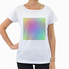 Rainbow Colorful Grid Women s Loose Fit T Shirt (white) by designworld65