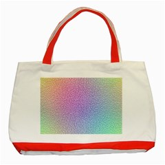 Rainbow Colorful Grid Classic Tote Bag (red) by designworld65