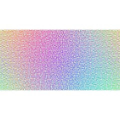Rainbow Colorful Grid You Are Invited 3d Greeting Card (8x4) by designworld65
