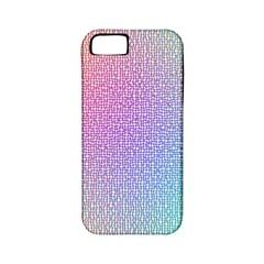Rainbow Colorful Grid Apple Iphone 5 Classic Hardshell Case (pc+silicone) by designworld65