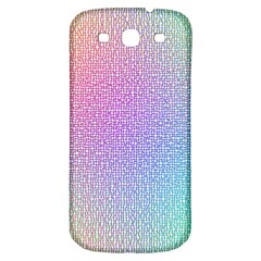 Rainbow Colorful Grid Samsung Galaxy S3 S Iii Classic Hardshell Back Case by designworld65