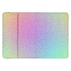 Rainbow Colorful Grid Samsung Galaxy Tab 8 9  P7300 Flip Case by designworld65