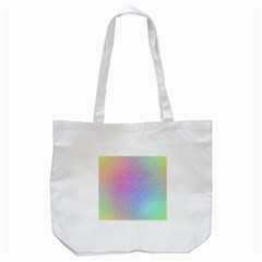 Rainbow Colorful Grid Tote Bag (white) by designworld65