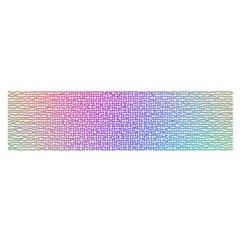 Rainbow Colorful Grid Satin Scarf (oblong) by designworld65