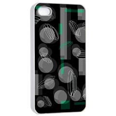 Come Down   Green Apple Iphone 4/4s Seamless Case (white) by Valentinaart