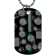 Come Down   Blue Dog Tag (one Side) by Valentinaart