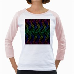 Rainbow Helix Black Girly Raglans by designworld65