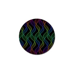 Rainbow Helix Black Golf Ball Marker (4 Pack) by designworld65
