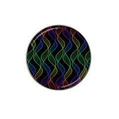 Rainbow Helix Black Hat Clip Ball Marker (4 Pack) by designworld65
