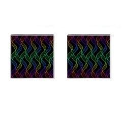 Rainbow Helix Black Cufflinks (square) by designworld65
