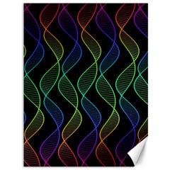 Rainbow Helix Black Canvas 36  X 48   by designworld65