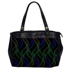 Rainbow Helix Black Office Handbags by designworld65