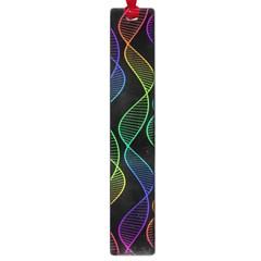Rainbow Helix Black Large Book Marks by designworld65