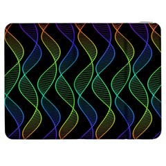 Rainbow Helix Black Samsung Galaxy Tab 7  P1000 Flip Case by designworld65