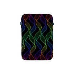 Rainbow Helix Black Apple Ipad Mini Protective Soft Cases by designworld65