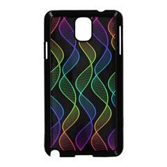 Rainbow Helix Black Samsung Galaxy Note 3 Neo Hardshell Case (black) by designworld65