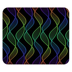 Rainbow Helix Black Double Sided Flano Blanket (small)  by designworld65
