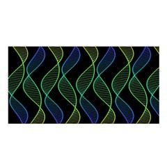 Rainbow Helix Black Satin Shawl by designworld65