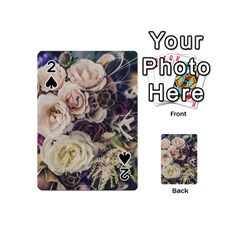Pink And White Roses Playing Cards 54 (Mini)  by TailWags