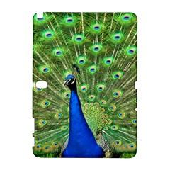 Bird Peacock Samsung Galaxy Note 10.1 (P600) Hardshell Case by AnjaniArt