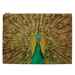 Bird Peacock Feathers Cosmetic Bag (xxl)  by AnjaniArt