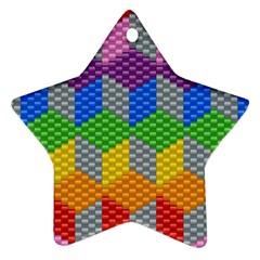 Block Pattern Kandi Pattern Ornament (star)  by AnjaniArt
