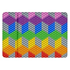 Block Pattern Kandi Pattern Samsung Galaxy Tab 8 9  P7300 Flip Case by AnjaniArt