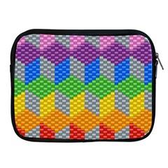 Block Pattern Kandi Pattern Apple Ipad 2/3/4 Zipper Cases by AnjaniArt