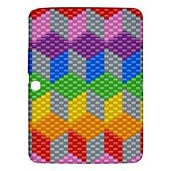 Block Pattern Kandi Pattern Samsung Galaxy Tab 3 (10 1 ) P5200 Hardshell Case  by AnjaniArt